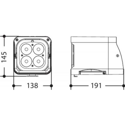 proiettore led batteria esterno