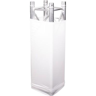 Copri americana in tessuto elastico bianco