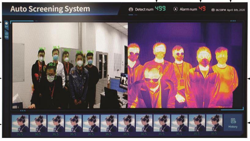 telecamera termica controllo febbre