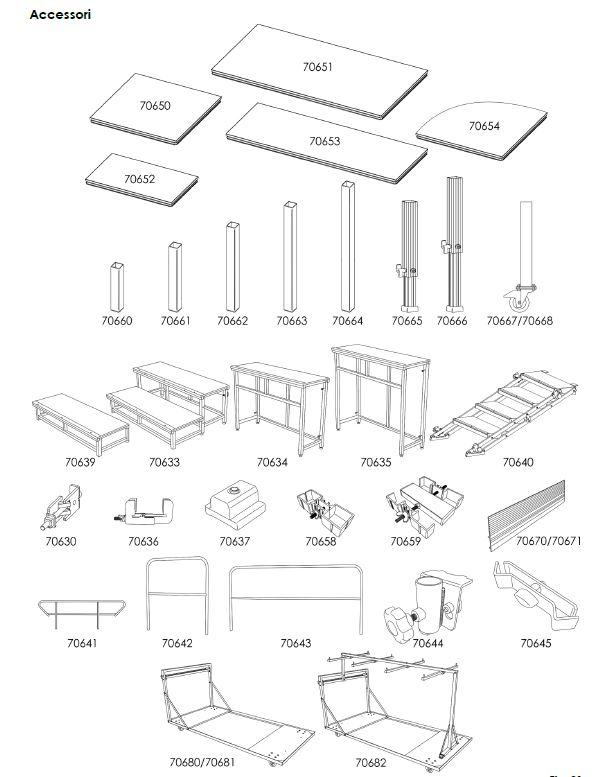 montaggio palchi modulari